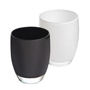 Vaso Blanco y Negro