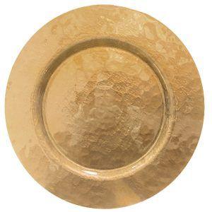 Bajo plato oro
